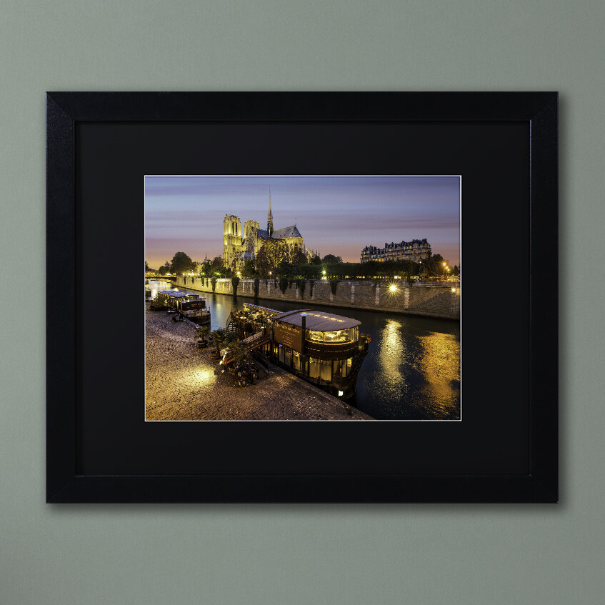 Trademark Art Notre Dame De Paris In Colors Framed Photographic Print Wayfair