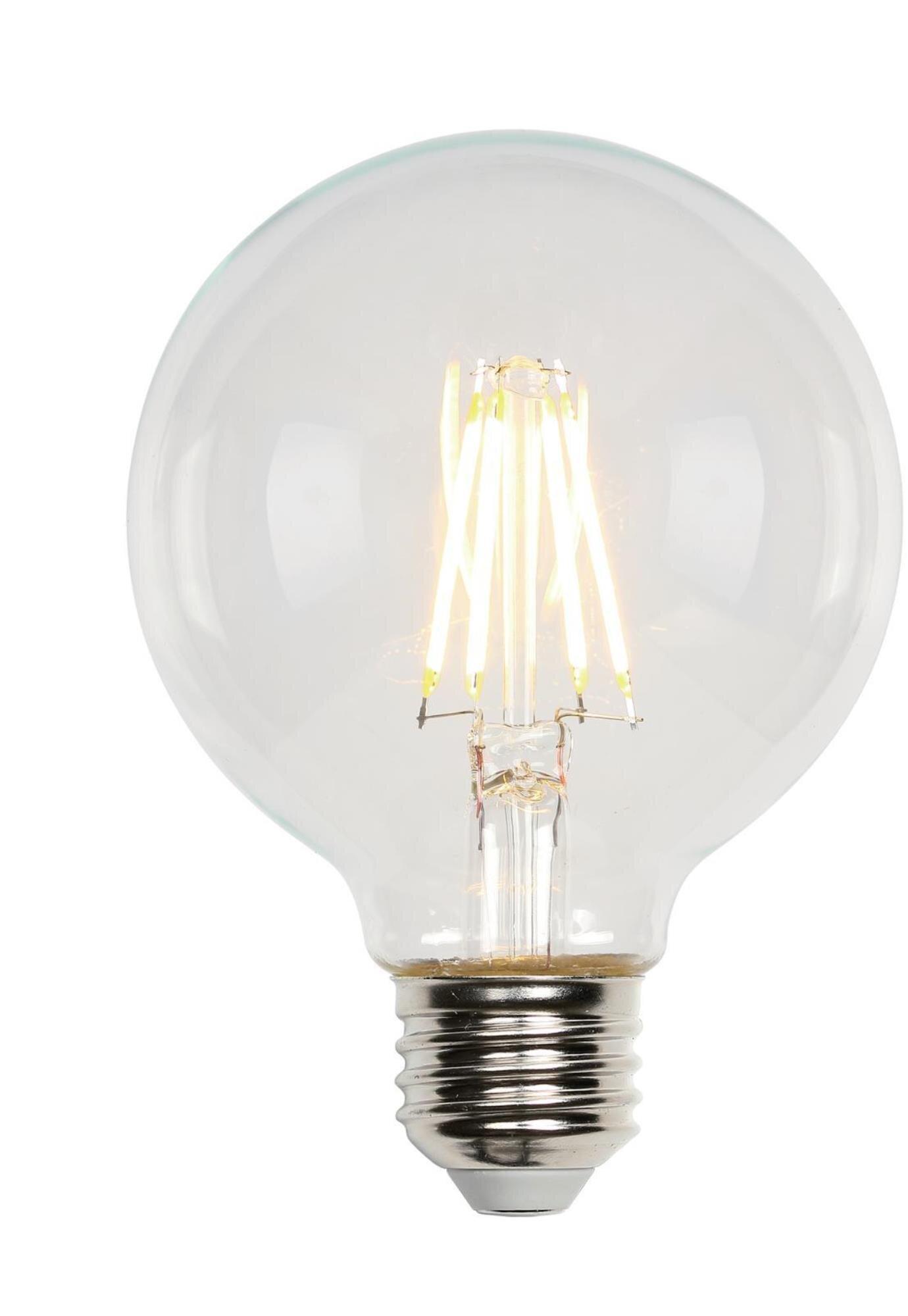 Warm 2700K E26 Medium Base G80 Antique LED Filament Light Bulbs 80W Equivalent 800LM G80-8W-2700K-6 Pack BORT 8W Vintage Globe LED Edison Bulbs G25 Dimmable
