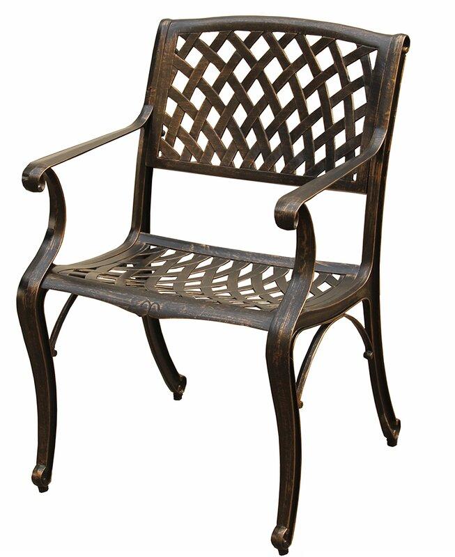 Casanova Mesh Lattice Patio Dining Chair
