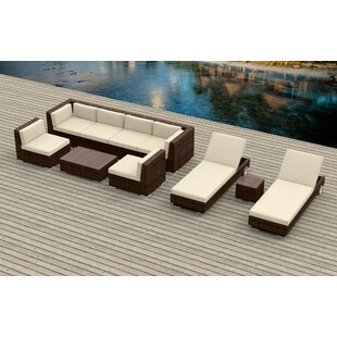 Brayden Studio Dana 10 Piece Sectional Set with Cushions