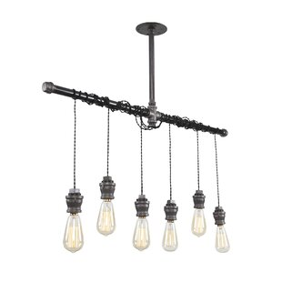 Industrial 6-Light Kitchen Island Pendant