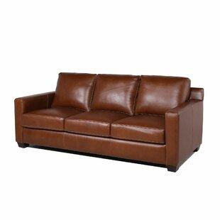 Lynn Leather Sofa by Red Barrel Studio