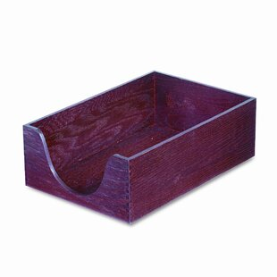 Carver Wood Products, INC. Hardwood Legal Stackable Desk Tray, Mahogany
