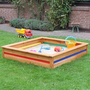 Colour Your Own 126cm Square Sandbox By Freeport Park