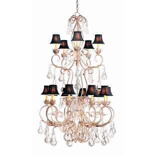 Alexandria 15-Light Shaded Chandelier by 2nd Ave Design