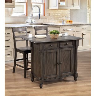Rawtenstall Drop Leaf Kitchen Island Set DarHome Co