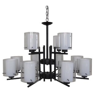 Whitfield Lighting Dominic 12-Light Shaded Chandelier