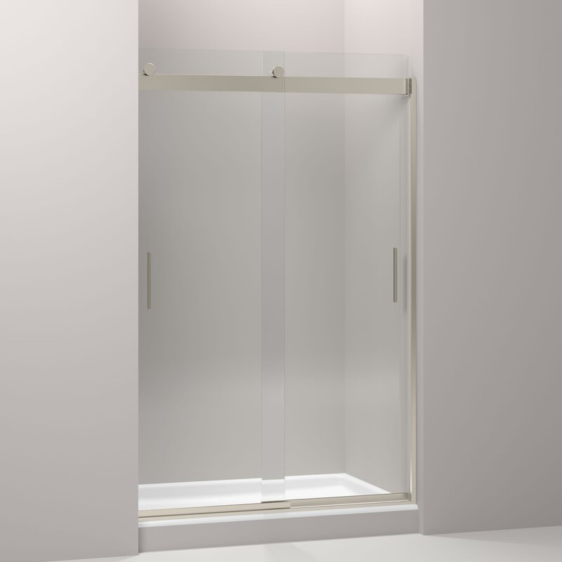 K 706010 L Nx Kohler Levity 47 63 X 74 Double Sliding Shower Door With Blade Handles With Cleancoat Technology Wayfair