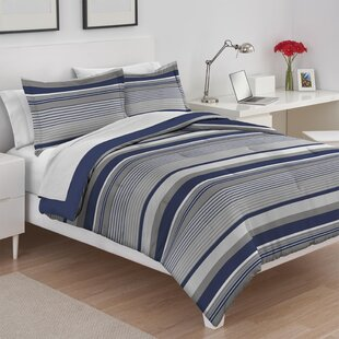 Collegiate Stripe Reversible Comforter Set by IZOD