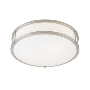 Affordable Tatom 3-Light Outdoor Flush Mount By Latitude Run