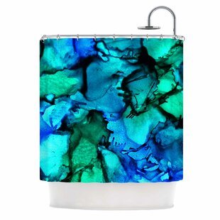 East Urban Home Claire Day Tidal Waves Shower Curtain