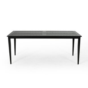 Sweet Metal Dining Table by Alcott Hill