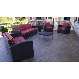 Loggins 5 Piece Sofa Set with Cushions