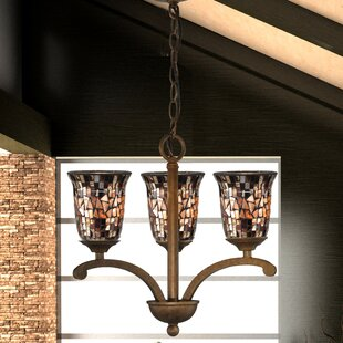 Springdale Lighting Shell 3-Light Shaded Chandelier