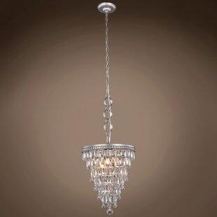 Flori Teardrop 3-Light Crystal Chandelier by House of Hampton