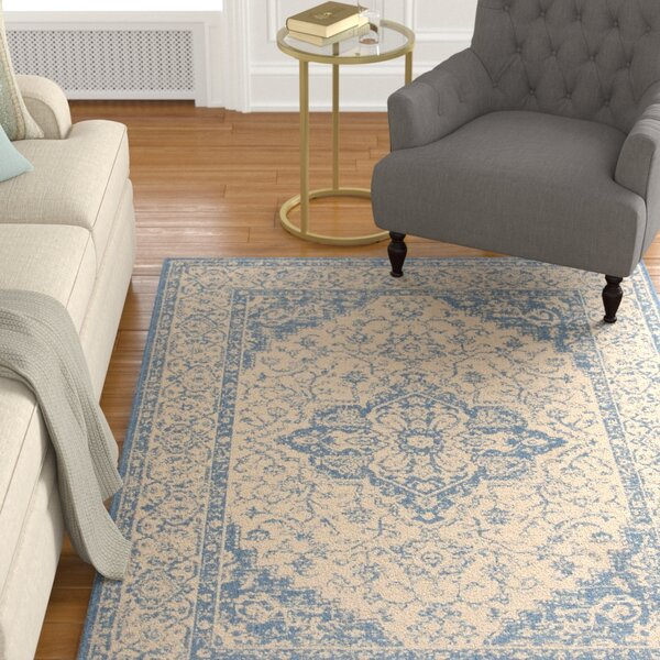 Darby Home Co Berardi Cream Blue Area Rug Reviews