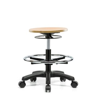 Height Adjustable Stool with Foot Ring