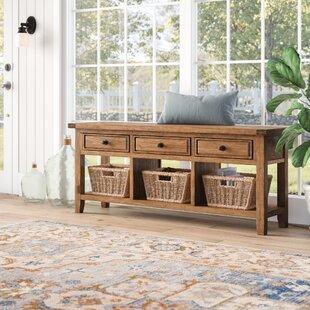Whitaker Wood Storage Bench by Birch Lane™ Heritage