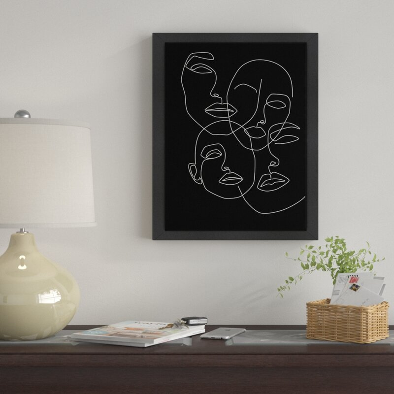 East Urban Home 'Faces' Drawing Print