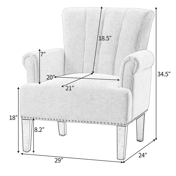 29'' Wide Tufted Polyester Armchair