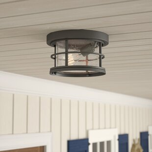 Breakwater Bay Crosswhite Outdoor Flush Mount