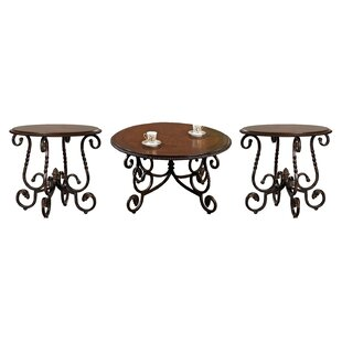 Darby Home Co Glen 3 Piece Coffee Table Set
