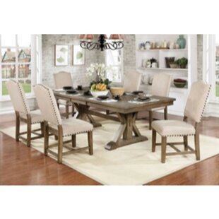 Lowell 7 Piece Drop Leaf Solid Wood Dining Set One Allium Way