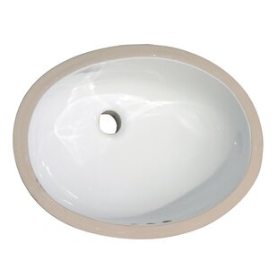 Where buy  Rosa 460 Vitreous China Oval Undermount Bathroom Sink with Overflow By Barclay