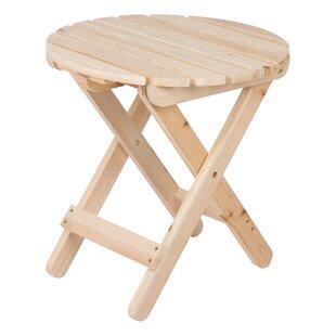 Mallory Folding  Wood Side Table