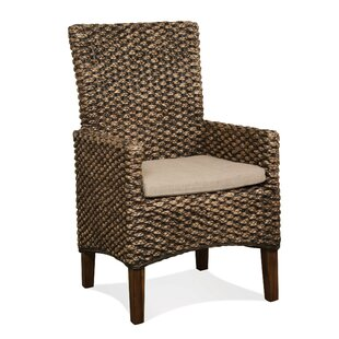 Heliodoro Woven Seagrass Arm Chairs (Set of 2)