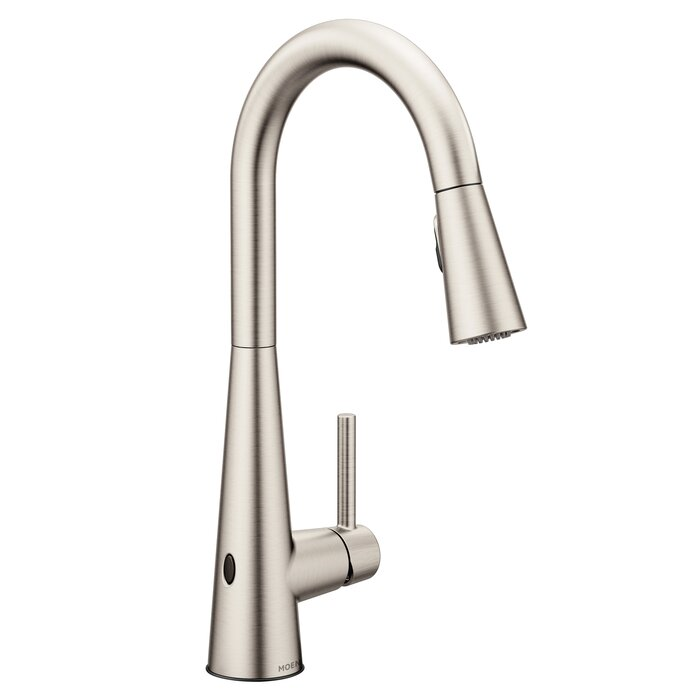 Sleek Pull Down Touchless Single Handle Kitchen Faucet with Reflex and  Power Clean