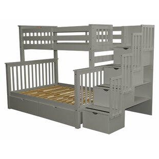 Tena Twin Over Full Bunk Bed with Drawers