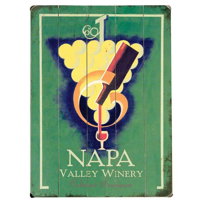 Artehouse Llc Napa Valley Winery Vintage Advertisement Multi Piece Image On Wood Wayfair