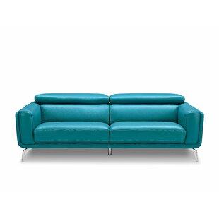 Lora Leather Sofa by Orren Ellis