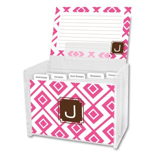 Comparison Lucy Single Initial Recipe Box By Dabney Lee