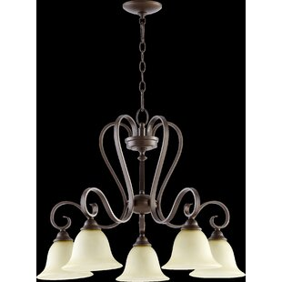 Loomis 5-Light Shaded Chandelier by Charlton Home