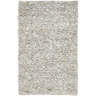 Dane Hand-Knotted White Area Rug by Ebern Designs