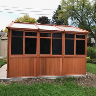 Westview Manufacturing Solchalet 12.5 Ft. W x 12.5 Ft. D Solid Wood Patio Gazebo