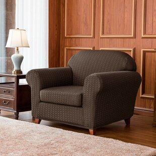 Jacquard Stretch Box Cushion Armchair Slipcover By Rosalind Wheeler