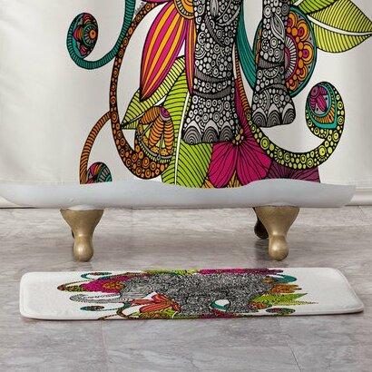 East Urban Home Valentina Ramos Ruby The Elephant Rectangle Non Slip Bath Rug Wayfair