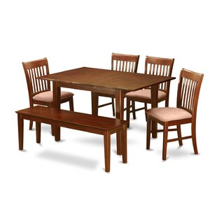 Lorelai 6 Piece Extendable Dining Set Alcott Hill