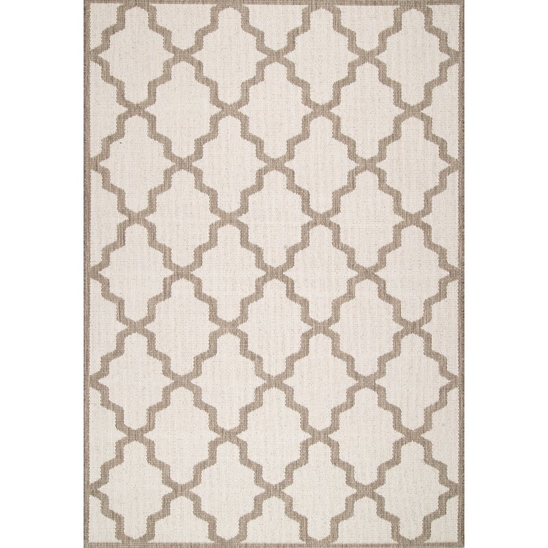 Sidell Brown/Tan Indoor/Outdoor Area Rug