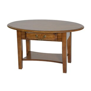 Seger Coffee Table with Drawer by Alcott Hill