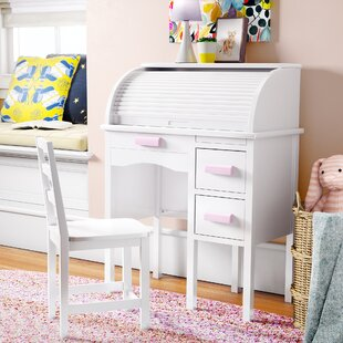 Auer Kids Study Desk and Chair Set with Kids Hutch