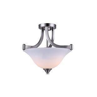 Charlton Home Margaret 2-Light Semi Flush Mount