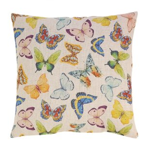 Couto Bright Butterflies Throw Pillow