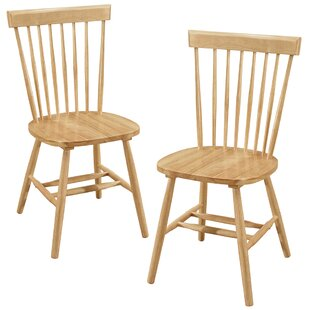 Alcide Solid Wood Dining Chair (Set of 2)