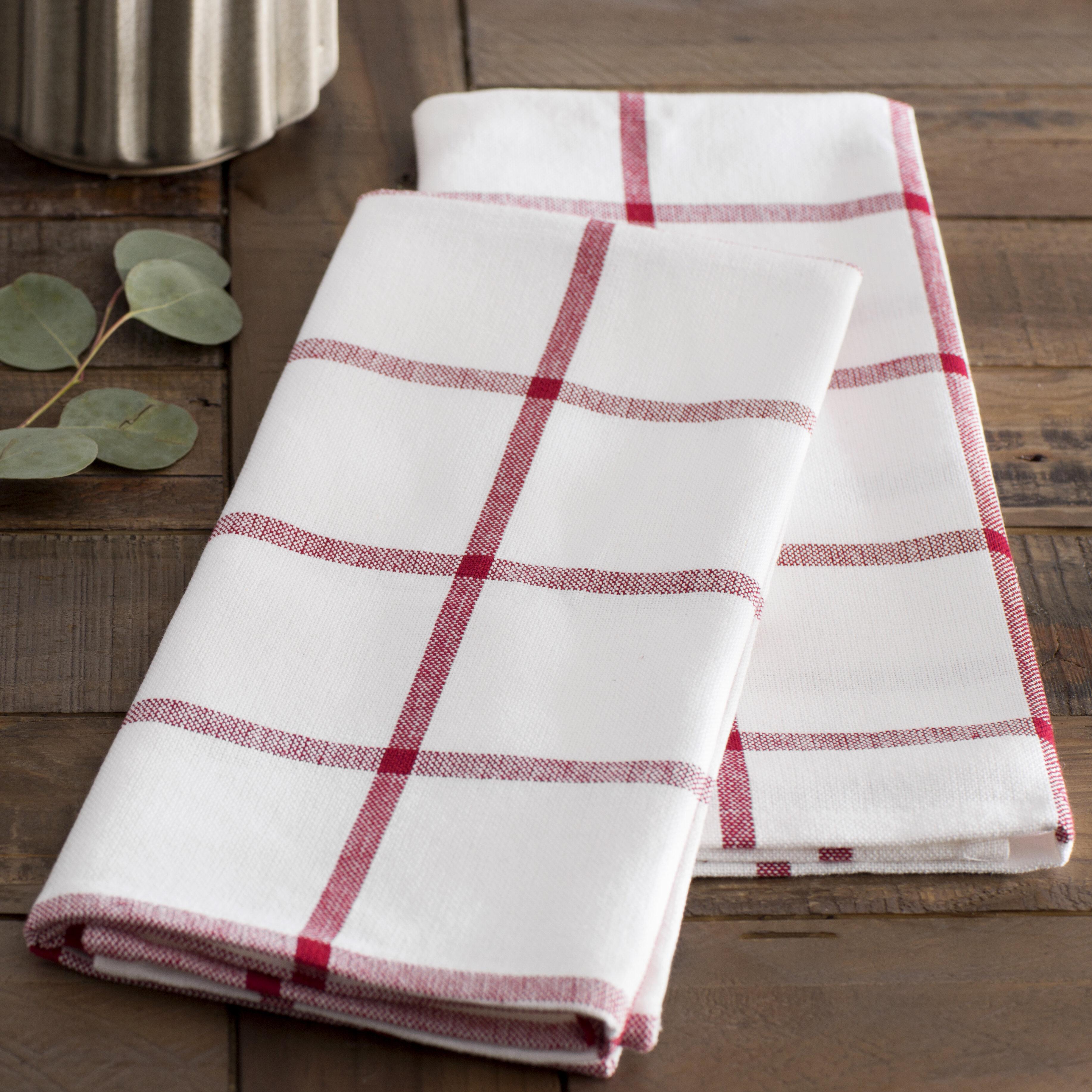 Mint Pantry Windowpane Kitchen Towel U0026 Reviews | Wayfair