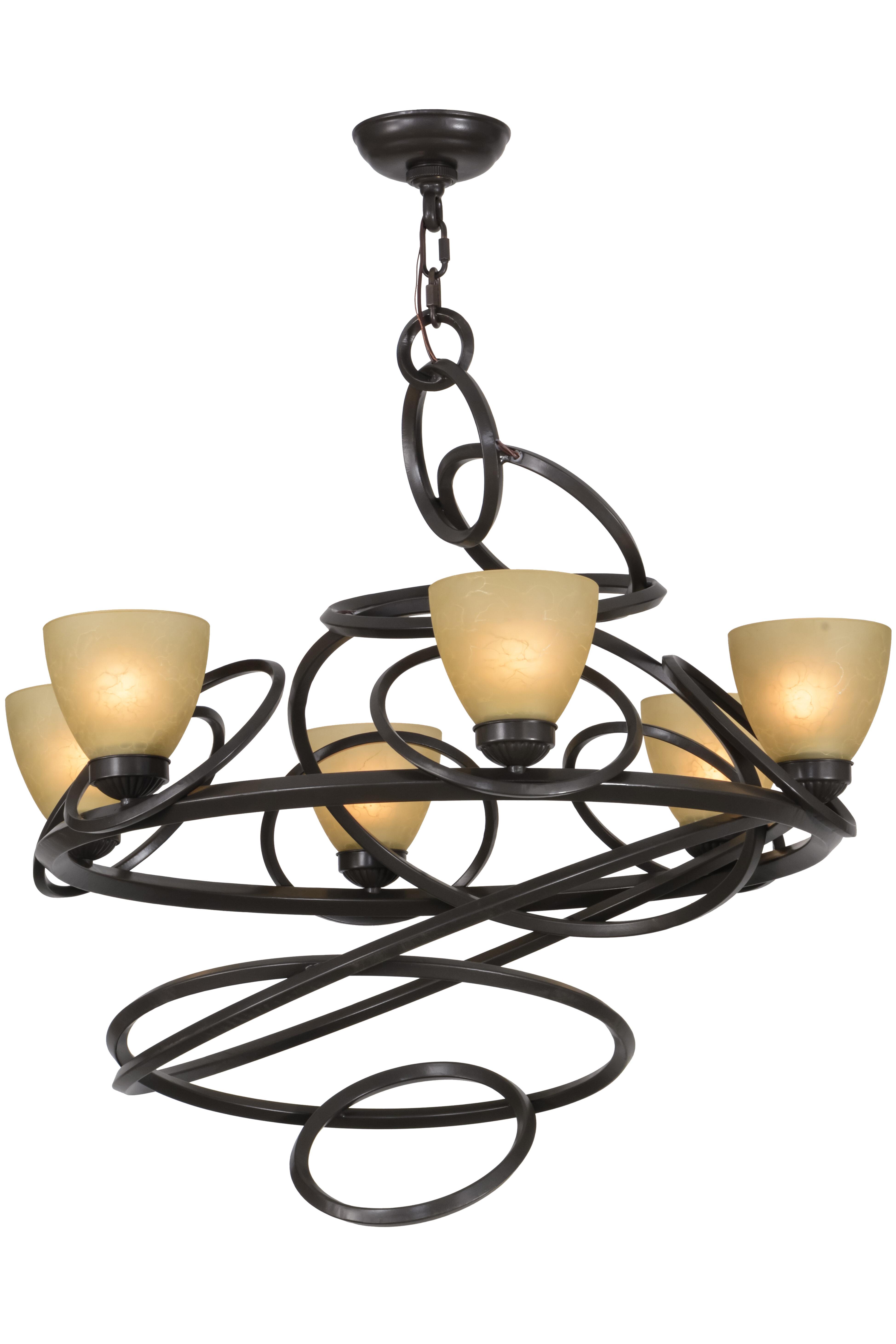 Meyda Tiffany 6 Light Shaded Classic Traditional Chandelier Wayfair