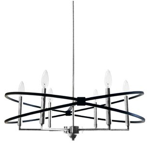 Carpen 6-Light Geometric Chandelier by Mercer41